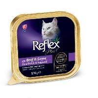 REFLEX PLUS Biftek & Av Hayvanlı Jole Içinde Kedi Konserve 100 GR