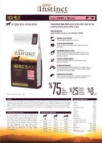 TRUE INSTINCT Tahılsız Yüksek Et Somon Orta İri Irk Yetişkin Köpek Maması 12 KG